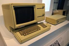 Sistema informático pessoal de Apple Lisa, c fotos de stock