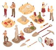 Sistema isométrico de la arqueología libre illustration