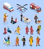 Sistema isométrico de los equipos de rescate libre illustration