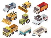 Sistema isométrico de los vehículos de la granja libre illustration
