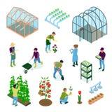 Sistema isométrico del invernadero libre illustration