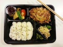 Sistema japonés del bento, comida japonesa, Japón Foto de archivo