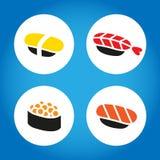 Sistema japonés del sushi Foto de archivo libre de regalías