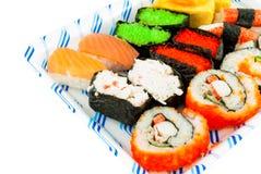 Sistema japonés del sushi de la cocina Imagen de archivo