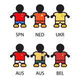 Sistema jugadores de equipo de Footbal/de fútbol Foto de archivo libre de regalías