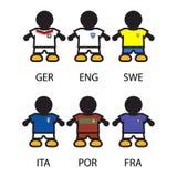Sistema jugadores de equipo de Footbal/de fútbol Foto de archivo