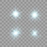 Sistema ligero del resplandor azul ilustración del vector