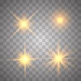 Sistema ligero que brilla intensamente del oro libre illustration
