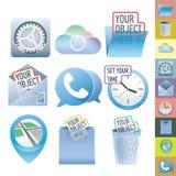 Sistema limpio del icono del vector Imágenes de archivo libres de regalías