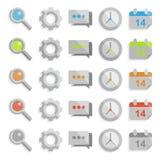 Sistema limpio del icono del web Fotografía de archivo libre de regalías