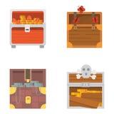 Sistema lindo de diversos pechos Imágenes de archivo libres de regalías