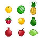 Sistema lindo de la fruta Fotos de archivo