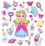 Sistema lindo de la princesa Imagen de archivo