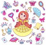Sistema lindo de la princesa Foto de archivo libre de regalías