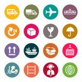 Sistema logístico del icono stock de ilustración
