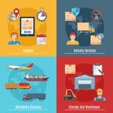 Sistema logístico y del transporte del concepto Imagen de archivo