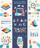 Sistema médico de Infographics Fotografía de archivo libre de regalías