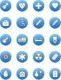 Sistema médico del icono, vector Fotos de archivo libres de regalías