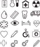 Sistema médico del icono, vector Imágenes de archivo libres de regalías