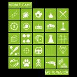 Sistema móvil del icono del juego Fotografía de archivo libre de regalías
