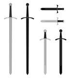 Sistema medieval de la espada Imagen de archivo libre de regalías