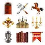 Sistema medieval del vector de los iconos