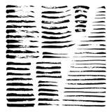 Sistema mega de cepillos de la tinta Fotos de archivo libres de regalías