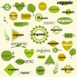 Sistema mega de etiquetas y de logotipos para diversas variaciones orgánicas fotografía de archivo libre de regalías