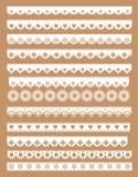 Sistema mega de fronteras del cordón de la concha de peregrino Ejemplo del vector en estilo del vintage ilustración del vector
