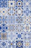 Sistema mega de tejas de cerámica y de la cerámica españolas o portuguesas tradicionales del ornamental ilustración del vector