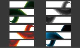 Sistema mega del cartel moderno de los anuncios de la portada de la onda del negocio libre illustration