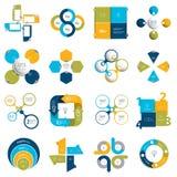 Sistema mega del concepto del negocio con 4 opciones, pasos, procesos stock de ilustración