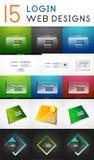 Sistema mega del vector de elementos del diseño web del inicio de sesión Fotografía de archivo libre de regalías