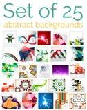 Sistema mega grande de fondos abstractos, venta ilustración del vector