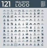Sistema mega y grupo, Real Estate, edificio y construcción grandes Logo Vector Design ilustración del vector