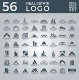 Sistema mega y grupo, Real Estate, edificio y construcción grandes Logo Vector Design libre illustration