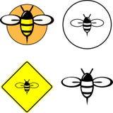 Sistema mezclado abeja stock de ilustración