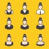 Sistema mezclado del avatar para las mujeres Fotografía de archivo