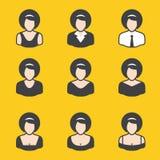 Sistema mezclado del avatar para las mujeres Foto de archivo