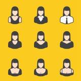 Sistema mezclado del avatar para las mujeres Fotografía de archivo libre de regalías