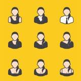 Sistema mezclado del avatar para las mujeres Imagenes de archivo