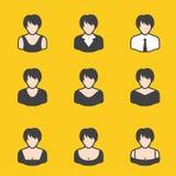 Sistema mezclado del avatar para las mujeres Imágenes de archivo libres de regalías