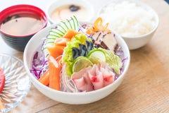 Sistema mezclado del sashimi imagen de archivo