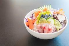 Sistema mezclado del sashimi imágenes de archivo libres de regalías