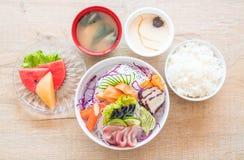 Sistema mezclado del sashimi foto de archivo