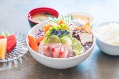 Sistema mezclado del sashimi foto de archivo libre de regalías