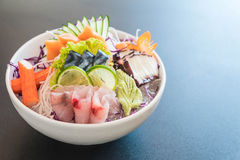 Sistema mezclado del sashimi fotos de archivo libres de regalías