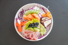 Sistema mezclado del sashimi fotos de archivo