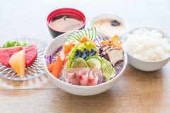 Sistema mezclado del sashimi imagen de archivo libre de regalías