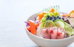 Sistema mezclado del sashimi imagenes de archivo